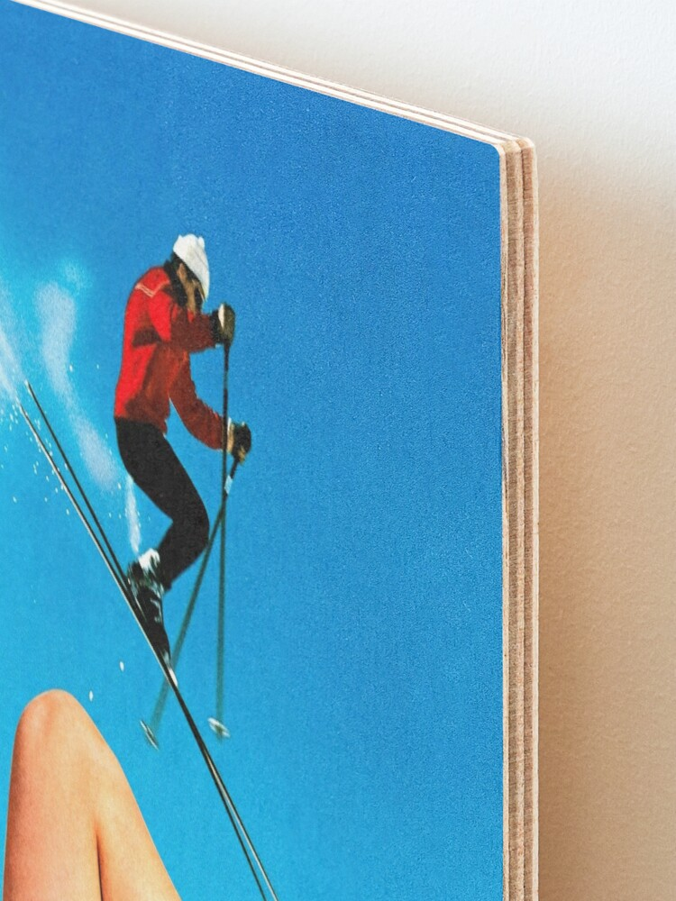 Alternate view of Skiing Time Mounted Print