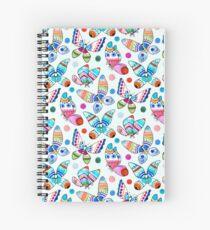 Jewel Tone Watercolor Butterflies  Spiral Notebook