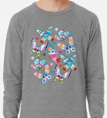 Jewel Tone Watercolor Butterflies  Lightweight Sweatshirt