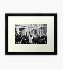 Poll Tax protestor, London Framed Print