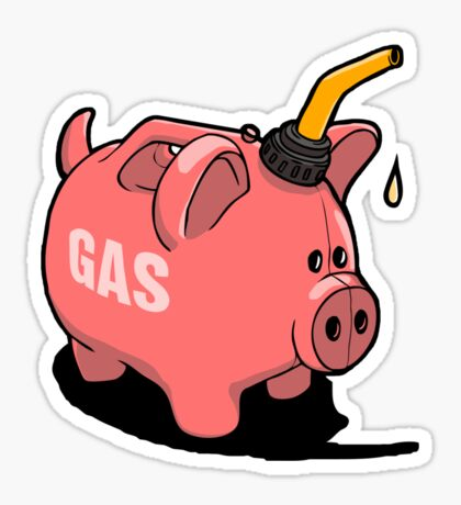 Gas Piggy  Sticker