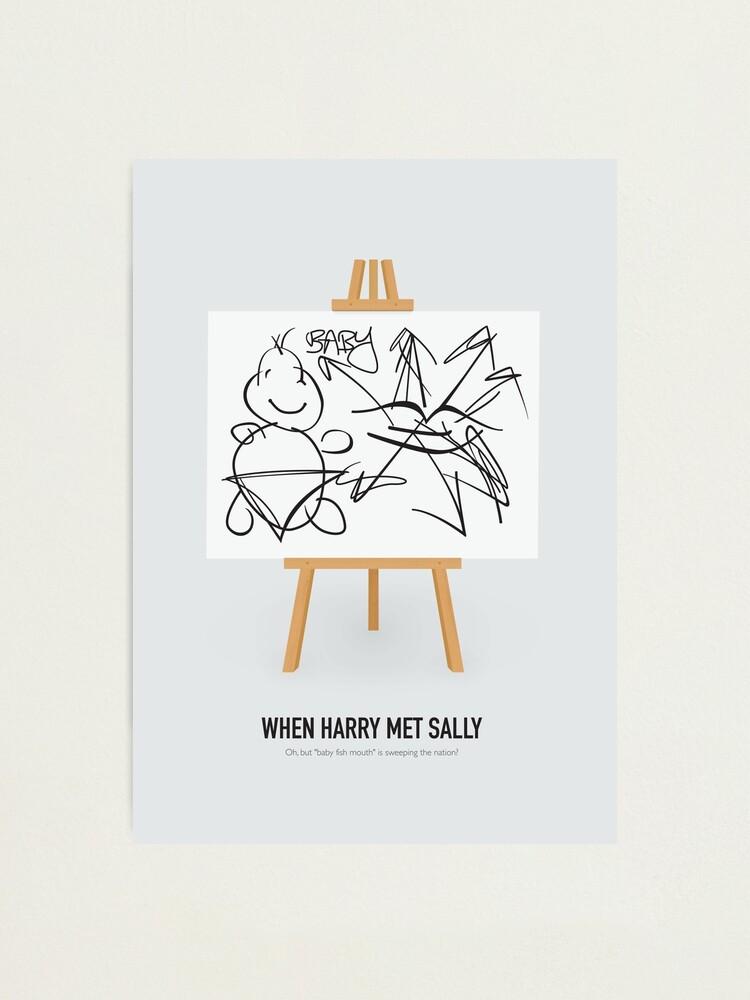 Alternate view of When Harry Met Sally - Alternative Movie Poster Photographic Print