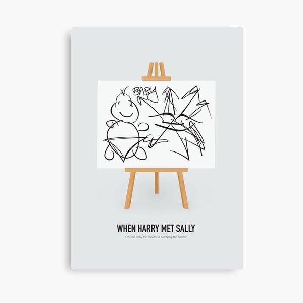 When Harry Met Sally - Alternative Movie Poster Canvas Print
