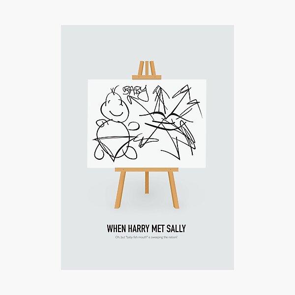 When Harry Met Sally - Alternative Movie Poster Photographic Print