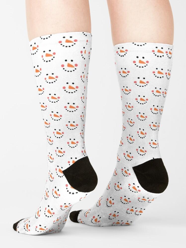 Alternate view of Snowman Face Socks