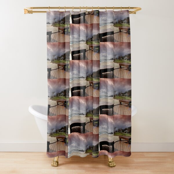 Stormy morning at Currumbin Beach Shower Curtain
