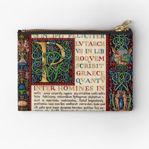 Renaissance manuscript Zipper Pouch