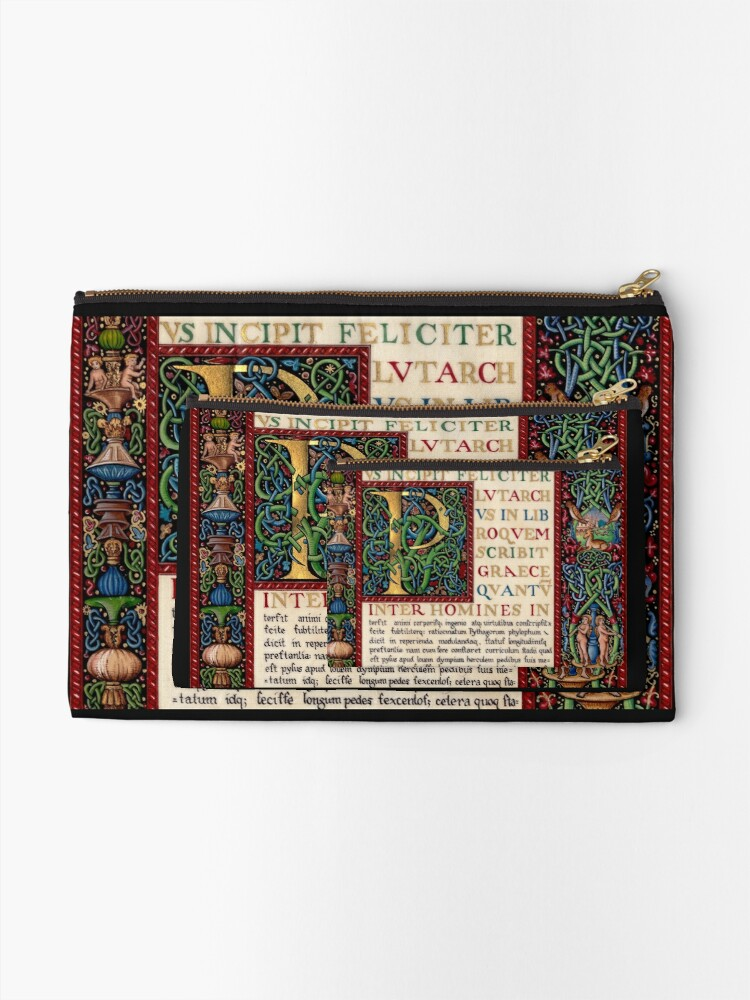 Alternate view of Renaissance manuscript Zipper Pouch
