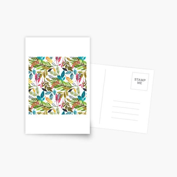 watercolor jungle  Postcard