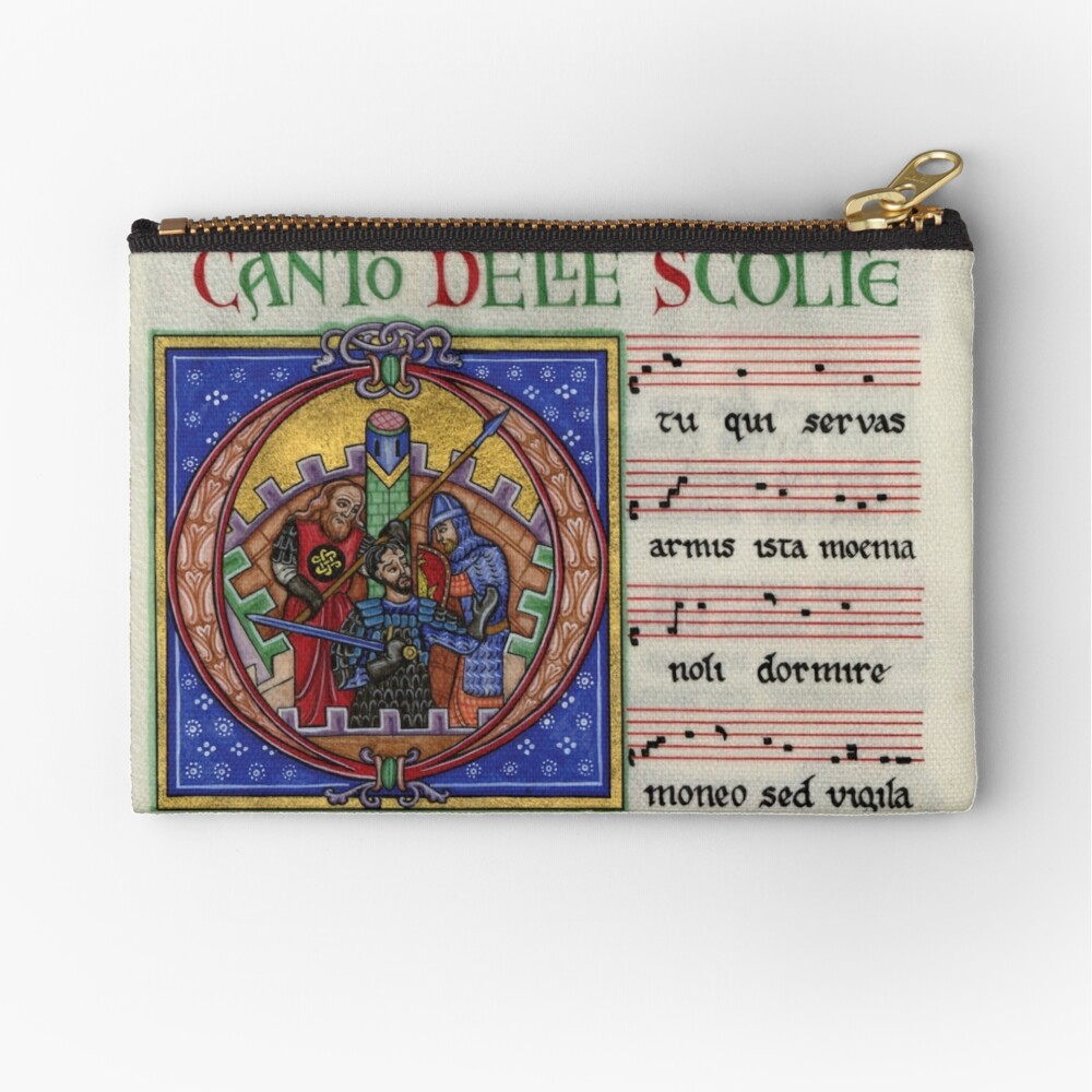 Medieval music Zipper Pouch
