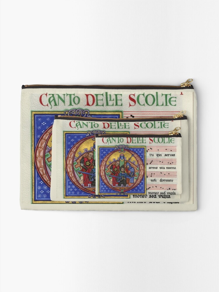 Alternate view of Medieval music Zipper Pouch