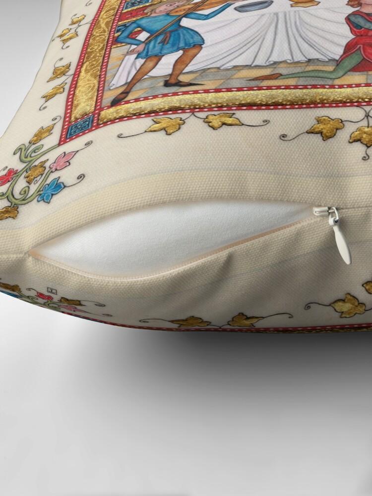 Alternate view of Medieval illumination - Gothic Banquet Throw Pillow