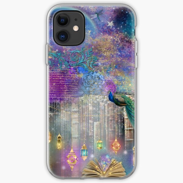 Whimsical Peacock Fantasy Art iPhone Soft Case