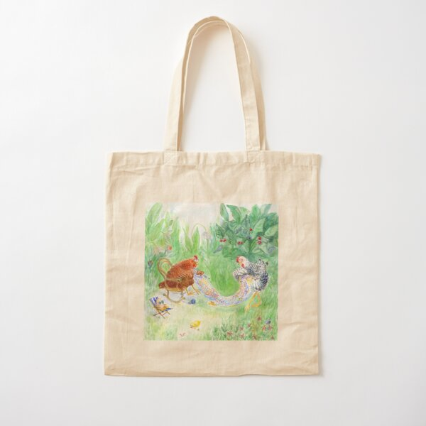 Chicken Chic Cotton Tote Bag