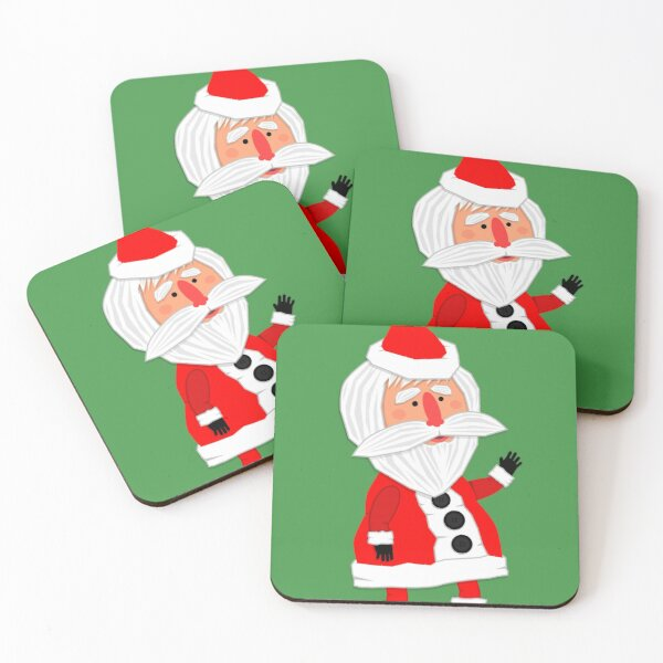 Hello, Father Christmas is coming! Coasters (Set of 4)
