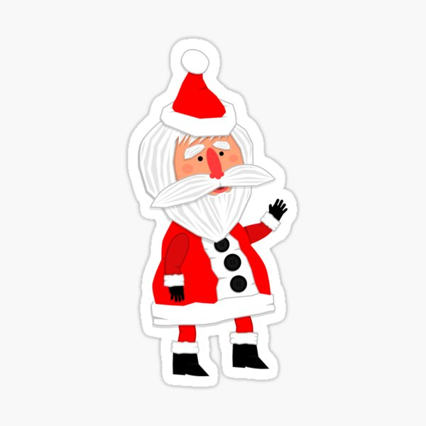 Hello, Father Christmas is coming! Sticker
