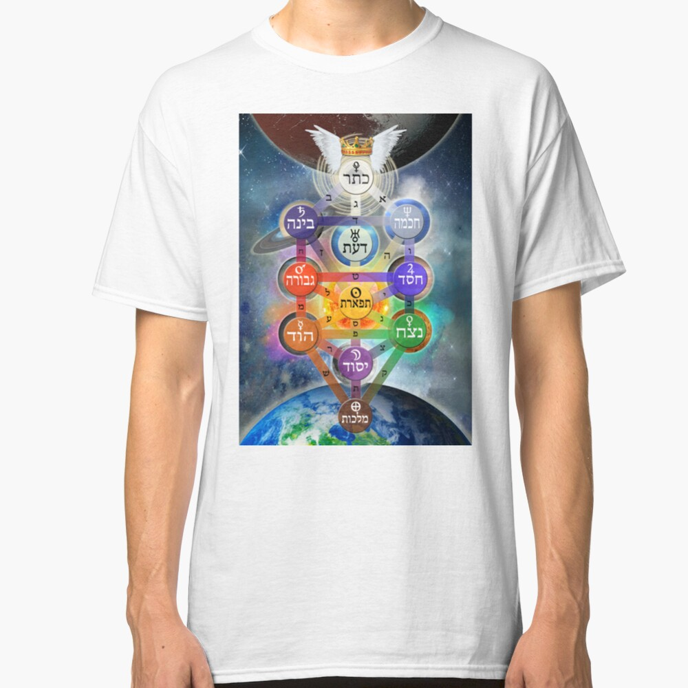 Kablalistic Tree of Life With Planets Classic T-Shirt