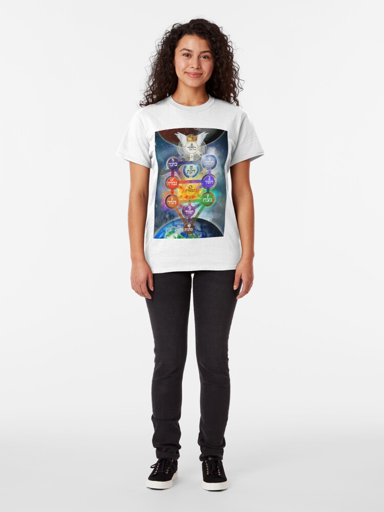 Alternate view of Kablalistic Tree of Life With Planets Classic T-Shirt