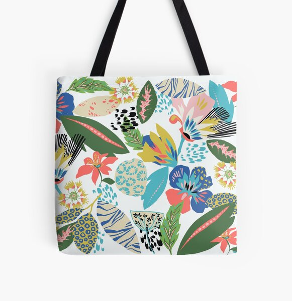 Funky floral All Over Print Tote Bag