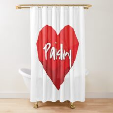 Paisley in My Heart Forever Love Shower Curtain