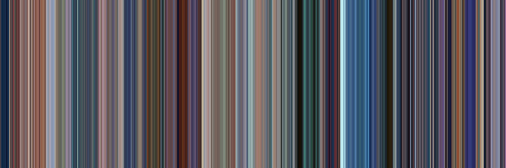 Moviebarcode: Monsters, Inc. (2001) [Simplified Colors] by moviebarcode