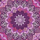 Boho Mandala in Deep Purple and Pink by micklyn