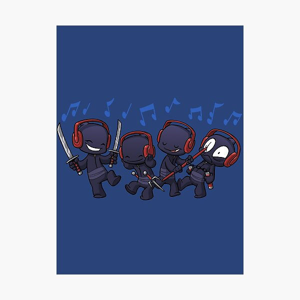 Ninja Dance Party Photographic Print