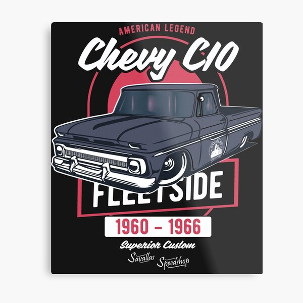 Chevy C10 - American Legend Metal Print