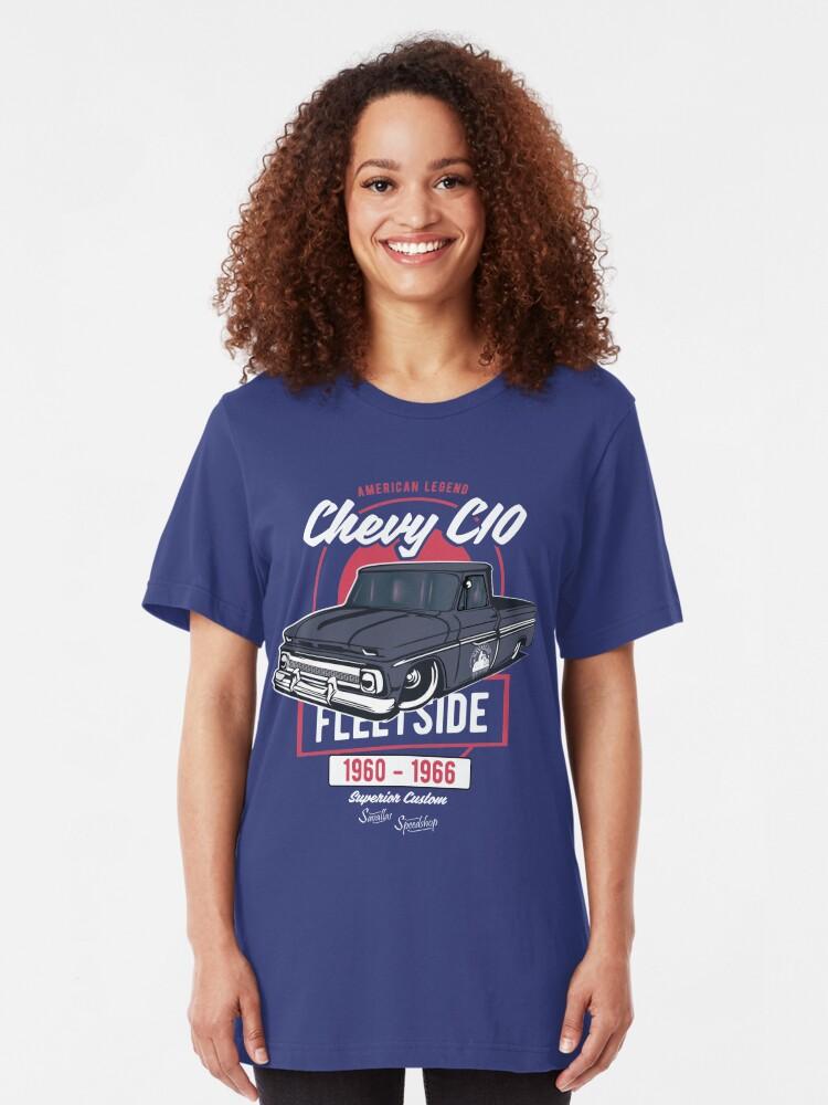 Alternative Ansicht von Chevy C10 - American Legend Slim Fit T-Shirt