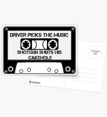 Driver Picks The Music... Postcards