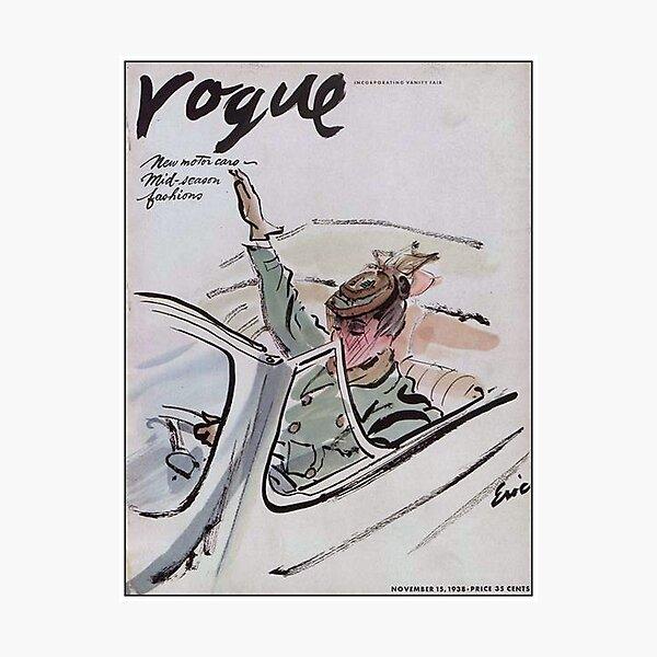 VOGUE : Vintage 1938 Magazine Fashion and Motor Car Advertising Print Photographic Print