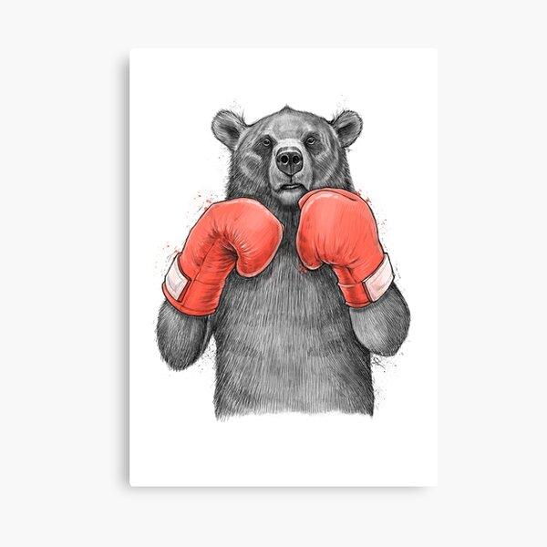 Bear Boxer Canvas Print
