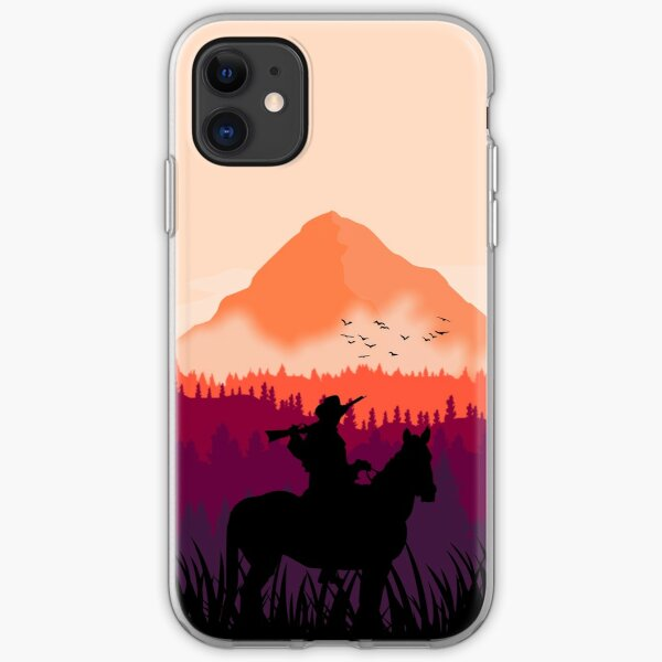 Far west sunset iPhone Soft Case