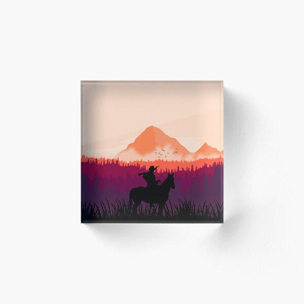 Far west sunset Acrylic Block
