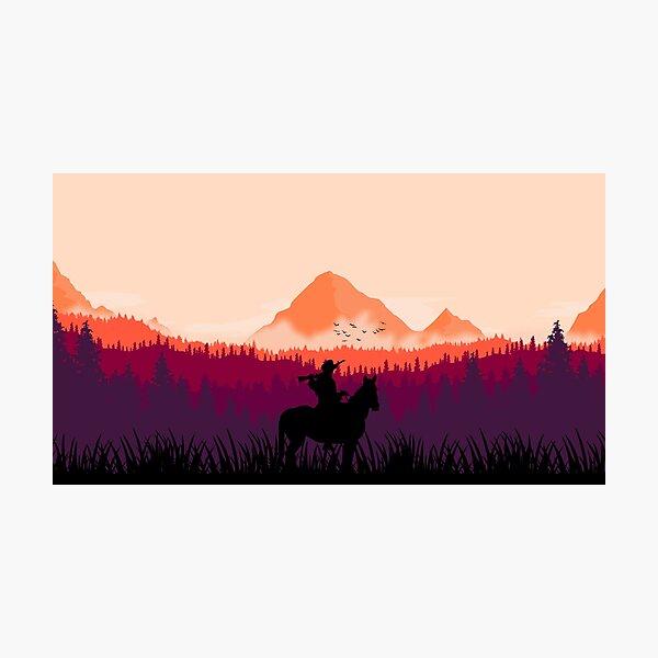Far west sunset Photographic Print