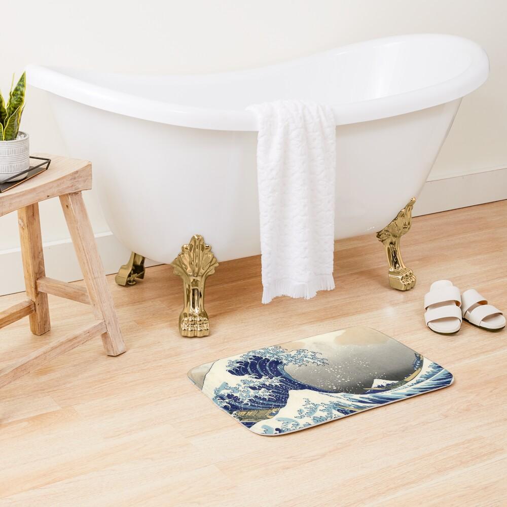 Great Wave Bath Mat