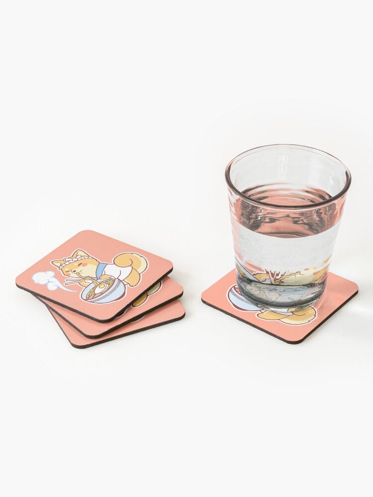 Alternate view of Ramen Shiba Coasters (Set of 4)