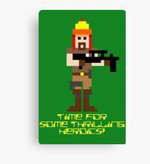 Firefly 8 Bit Thrilling Heroics Canvas Print