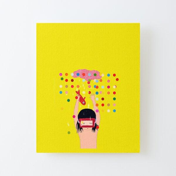Illustration confetti rêve d'enfant Canvas Mounted Print