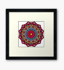 Mandala - Circle Ethnic Ornament Framed Print