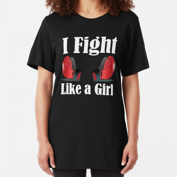 Fight Like A Girl Body Combat Boxing Kickboxing Kid/'s Size T-Shirt Ideal Gift