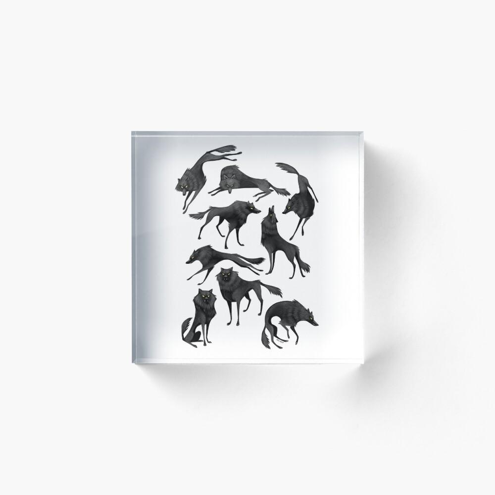 Black wolves Acrylic Block