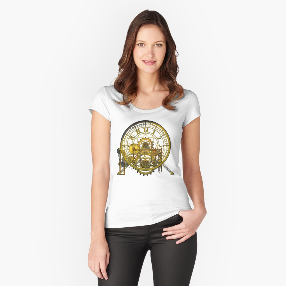 Vintage Time Machine #1C Women's Fitted Scoop T-Shirt Front