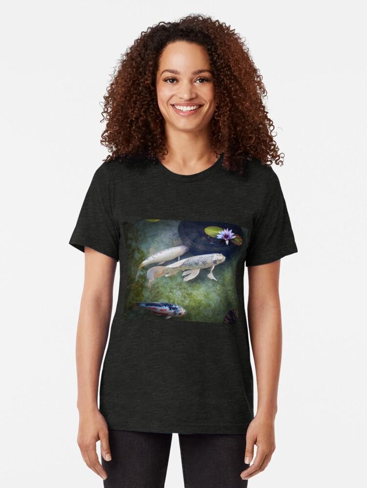 Alternate view of At The Koi Pond... Tri-blend T-Shirt