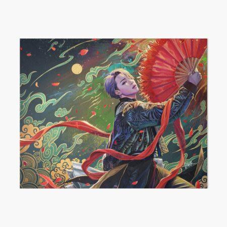 Jimin- red fan Art Board Print