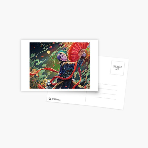 Jimin- red fan Postcard