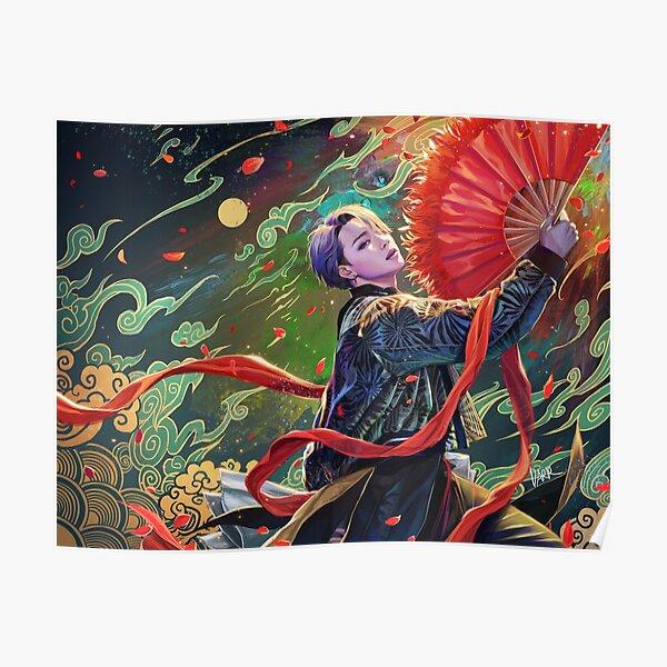 Jimin- ventilateur rouge Poster