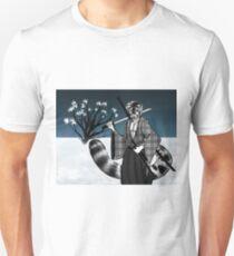 Snow Leopard Samurai Unisex T-Shirt