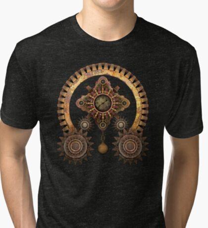 Vintage Steampunk Machine Thing Tri-blend T-Shirt