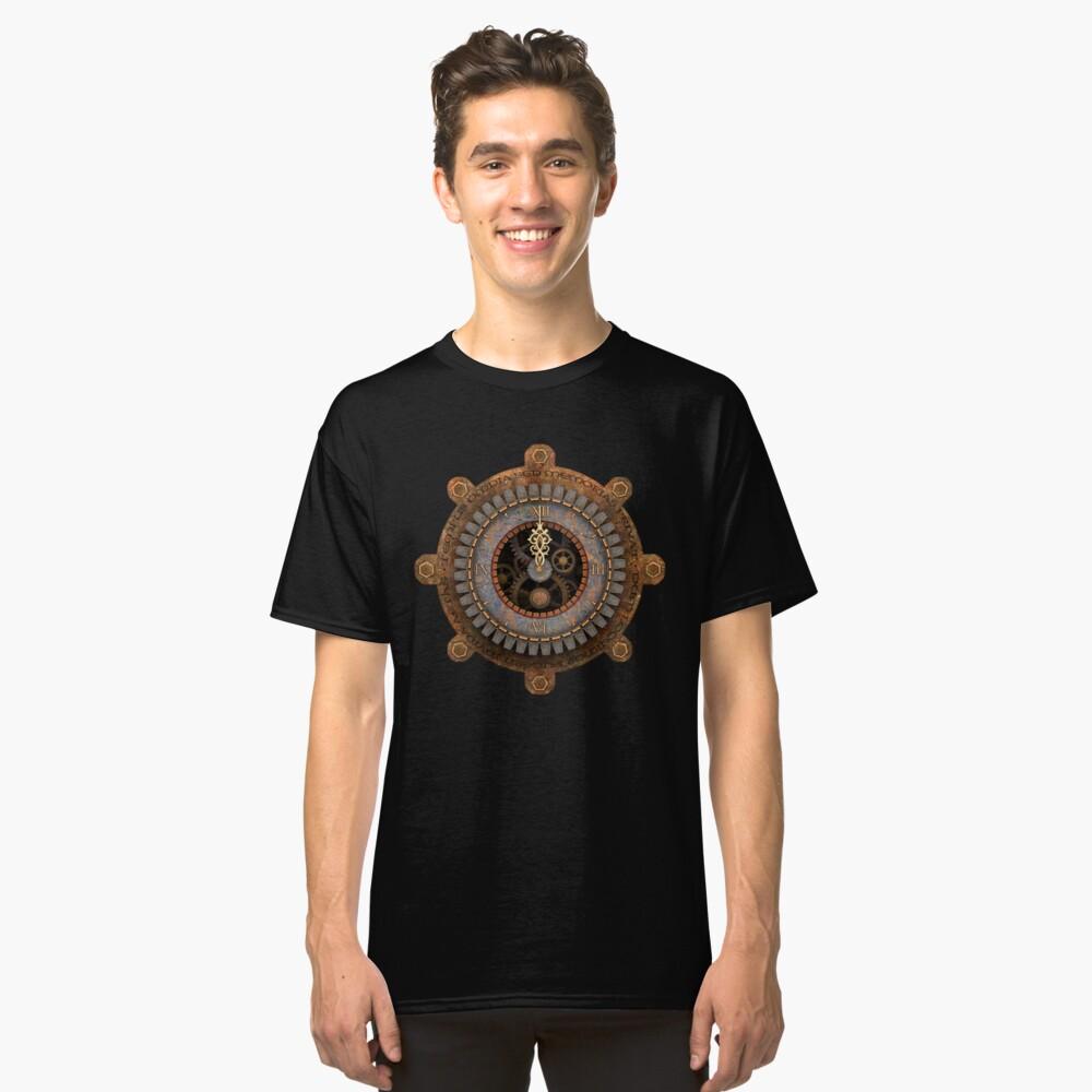 Infernal Steampunk Vintage Clock Face Classic T-Shirt